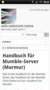 DokuWiki-Template auf Android