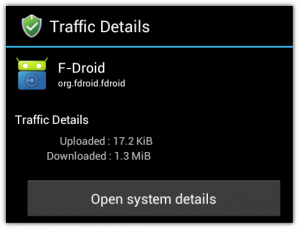 Traffic Details in AFWall 1.2.8