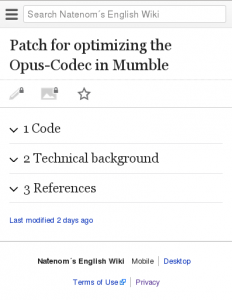 MediaWiki MobileFrontend Extension (Preview)